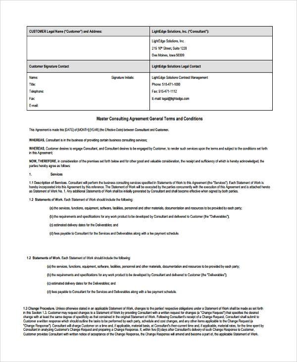 Business Consulting Agreement Template Dengan Gambar