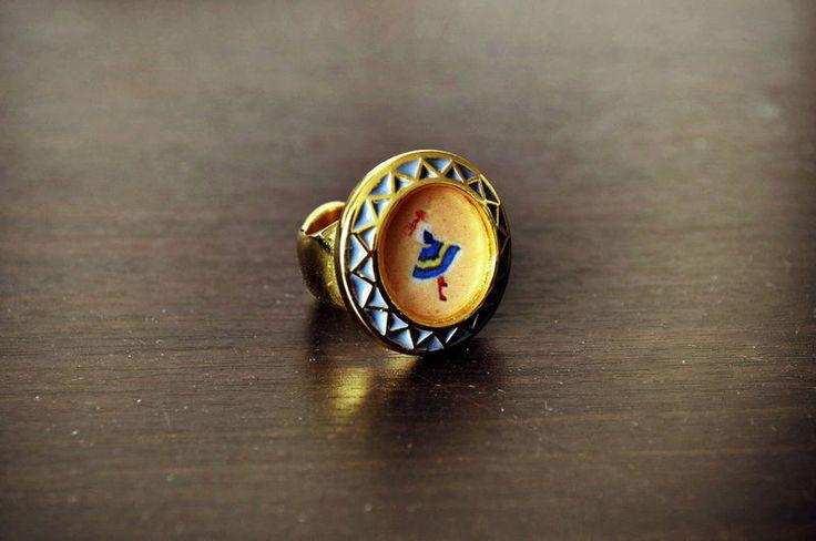 Dancing Ballerina Gold Plate Ring