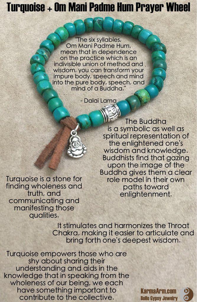 Leather Zen Buddhist Bracelet for Men & Women.  Om Mani Padme Hum Bead Mala.