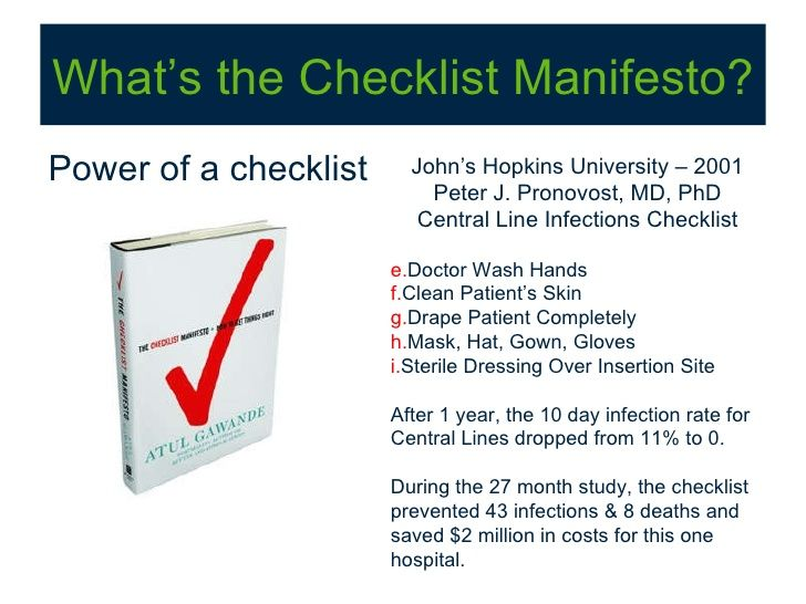 the checklist manifesto how to get things right pdf