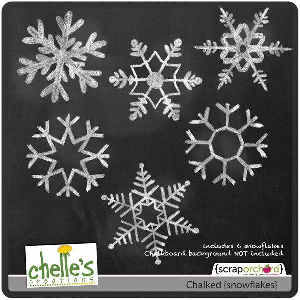 images of chalk snowflakes - Google Search
