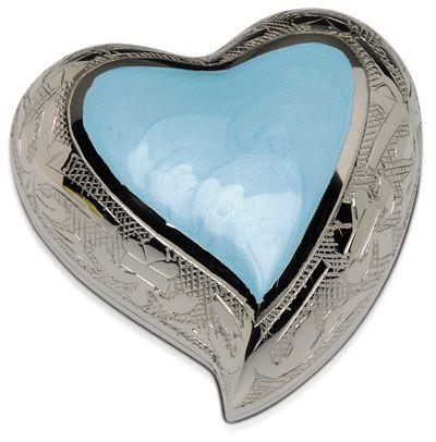 Baby Blue Heart Keepsake Pet Urn