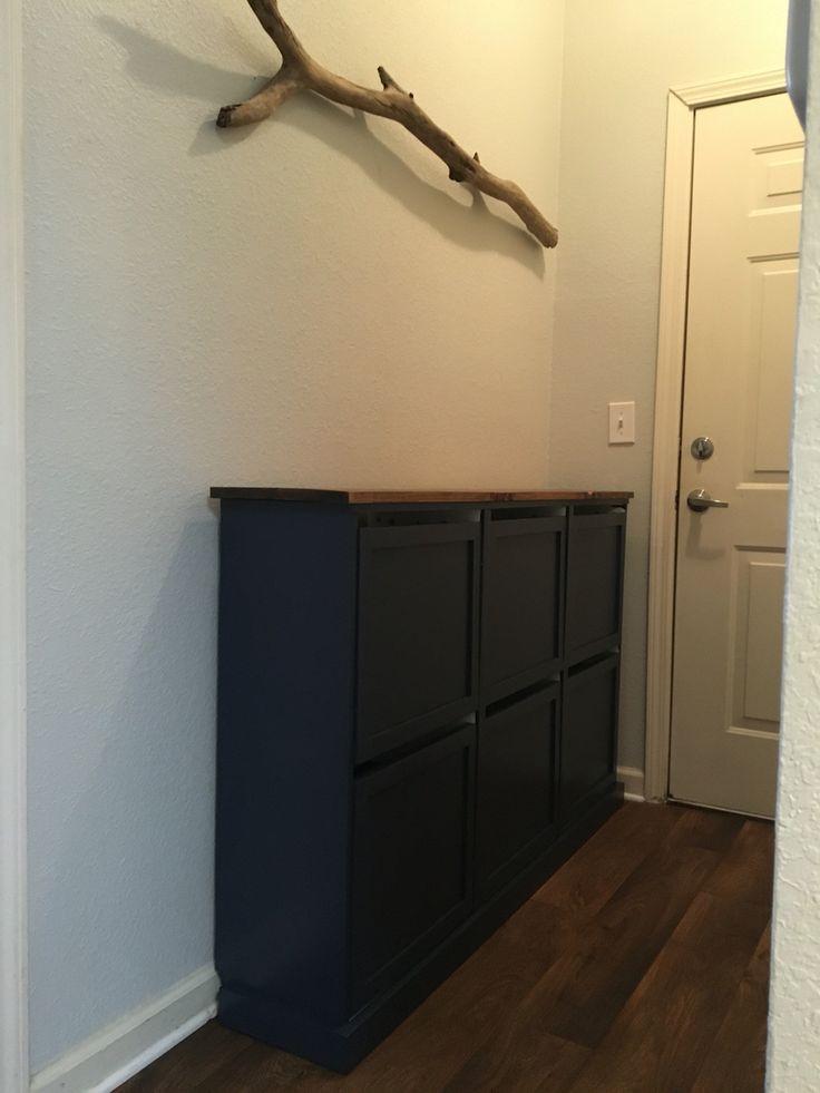 Ikea bissa shoe cabinet hack home pinterest living for Ikea shoe cabinet hack
