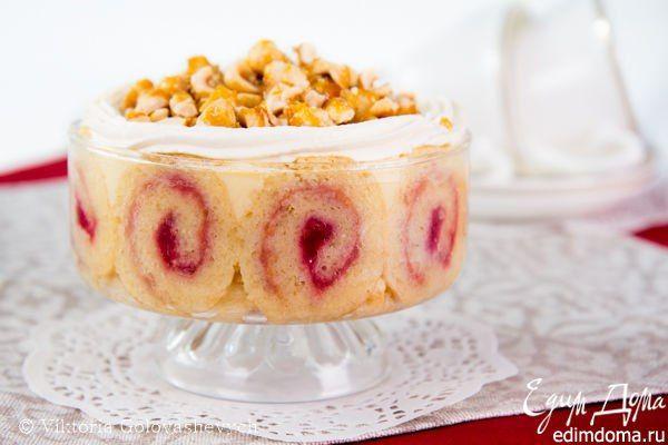 Трайфл Чудесный десерт! Переплетение структур, вкусов, ароматов легкое и не навязчивое, но в то же время контрастное и выразительное. Попробуйте! #едимдома #готовимдома #десерт #торт #трайфл #кулинария #домашняяеда