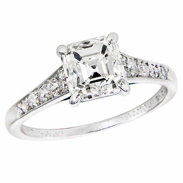 antique cartier engagement ring cartier 2 carat asscher