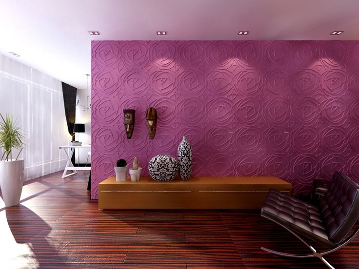 """A pleasing """"Peony"""" feature wall inspired by roses."""