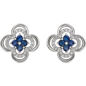 Blue Sapphire & Diamond Clover Earrings to celebrate September Birthdays! Click through for product details OR to locate a jeweler near you.