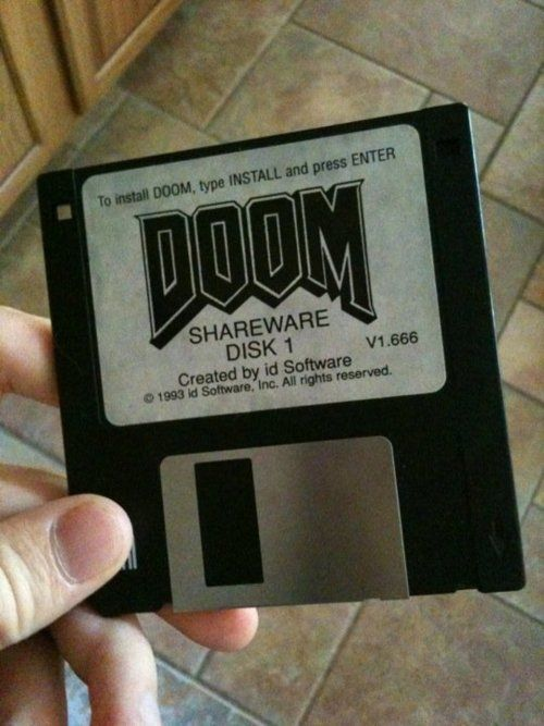 Doom on a three and a half inch floppy! oh dear lord the time I wasted on this