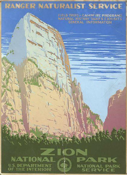 vintage zion poster  #Vintage Posters, Zion National Parks, Picture-Black Posters, Art, National Parks Utah, Places, National Park Utah, Vintage Travel Posters, Parks Posters
