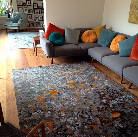 We just delivered one of our beautiful hand knotted NZ wool rugs to a very happy customer. #rug #handknotted #therugcollection