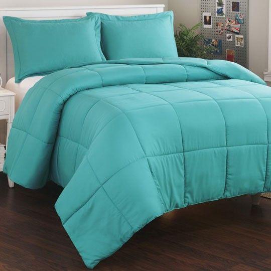 Micro Fiber Teal Mini Comforter Set Master Bedroom