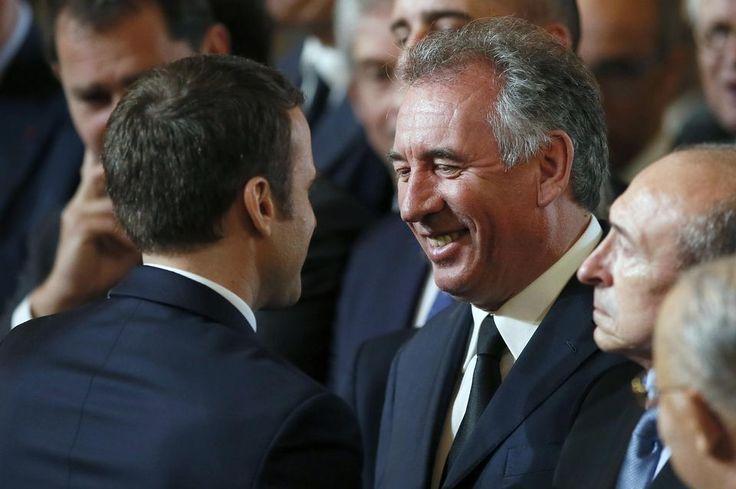 Emmanuel Macron et Francois Bayrou à l'Elysée, le 14 mai.