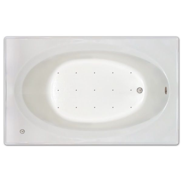 Signature Bath 72-inch x 42-inch x 19-inch Drop-in Air tub with Stainless Jets and Heated Blower