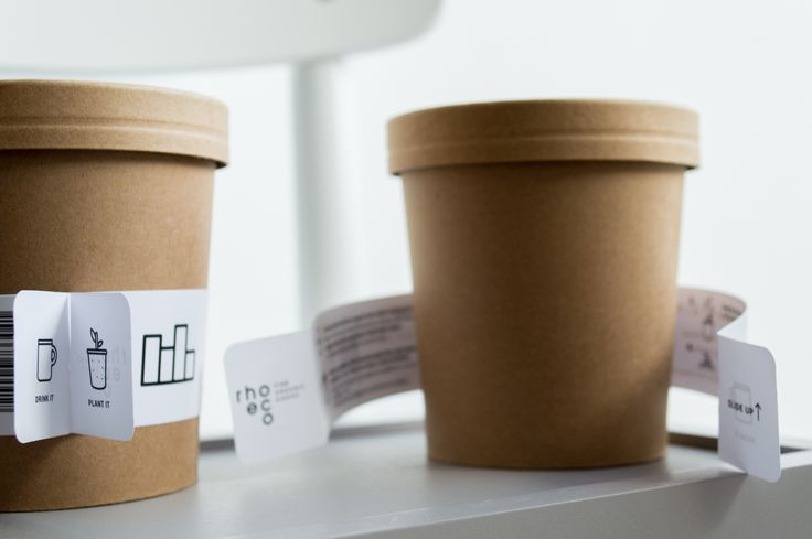 product concept | drink it_plant it  ||When the herbal tea blend is finished, reuse the container: - Slide up the label - Follow the instructions  - Grow your own organic herbs   ||Discover more: http://www.rhoeco.com/  #reuse #biodegradable #packaging