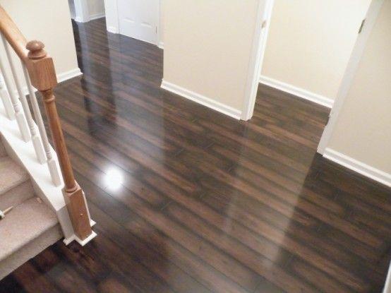 Interior Designs, The Awesome Dark Brown Detail Pattern Vinyl Wood Flooring  Vs Laminate Hardwood Flooring