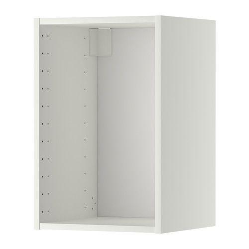 METOD Veggskapstamme - hvit, 40x37x60 cm - IKEA 1 STK, med hvit dør