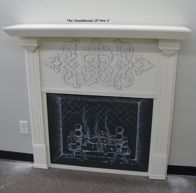 The HumbleNest Of Mrs. V: DIY Faux Fireplace