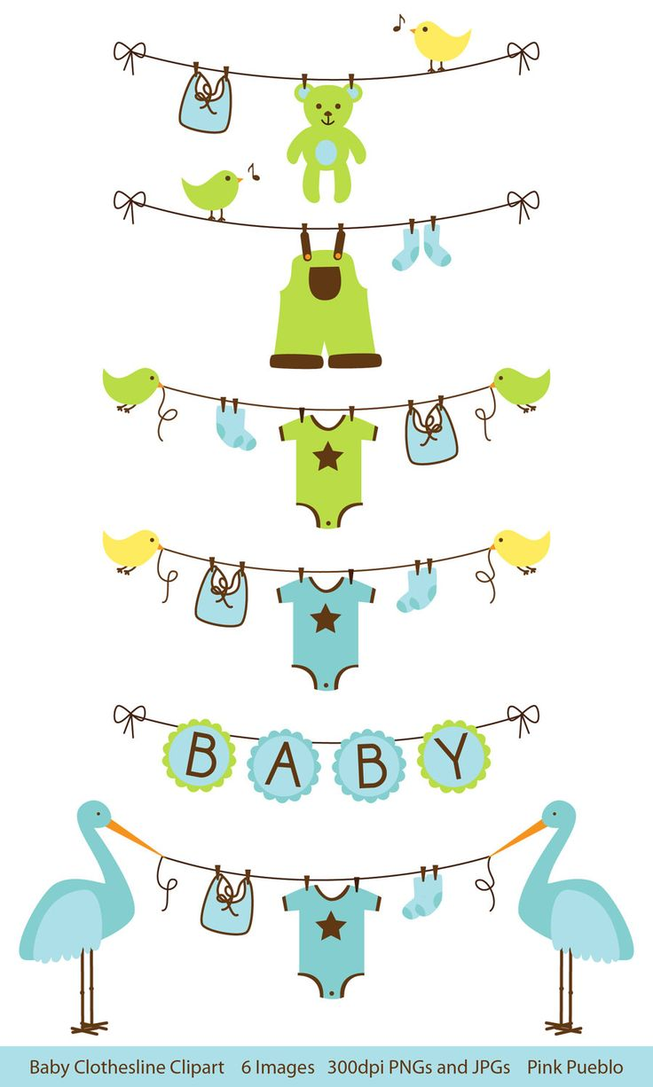 Baby Clip Art Clipart Clothesline Laundry Line Baby Shower Clip Art, Baby Bunting Clip Art, Baby Bunting Clipart  - Commercial Use. $6.00, via Etsy.