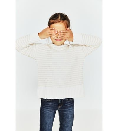 SHINY STRIPED CHENILLE SWEATER-SWEATERS & CARDIGANS-GIRL | 5-14 years-KIDS-SALE | ZARA United States