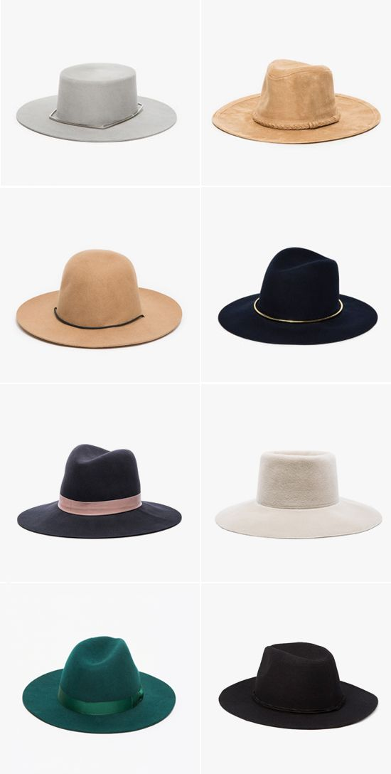 shop these hats above: janessa leone mica, need supply range hat, janessa leone opal, janessa leone quartz, clyde wide brim gaucho, the beryl lack of color, and forever 21 wool-blend fedora // So beautiful!!