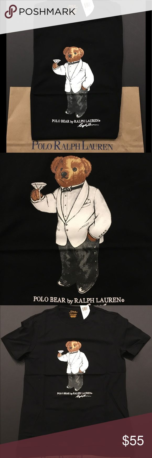 Ralph Lauren Polo Bear Tuxedo Wine Bear PRICE IS FIRM  Up for sale is one Brand New Men's Polo Ralph Lauren Polo Bear Tuxedo Martini Bear T-Shirt, Item comes brand new with tags!  100% Authentic Polo Ralph Lauren  Polo Bear Logo on Front  Black  100% Cotton  FAST SHIPPING Polo by Ralph Lauren Shirts Tees - Short Sleeve