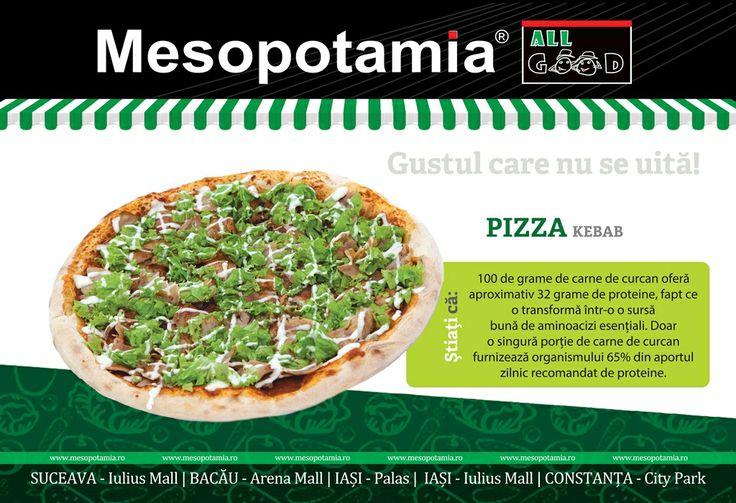Stiati ca: Pizza Kebab de la Mesopotamia e cea mai buna din oras? www.mesopotamia.ro