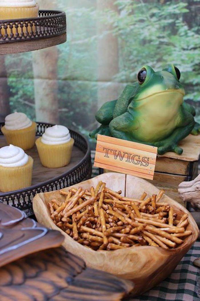 Camping Themed Graduation + Birthday Party via Kara's Party Ideas | KarasPartyIdeas.com (14)