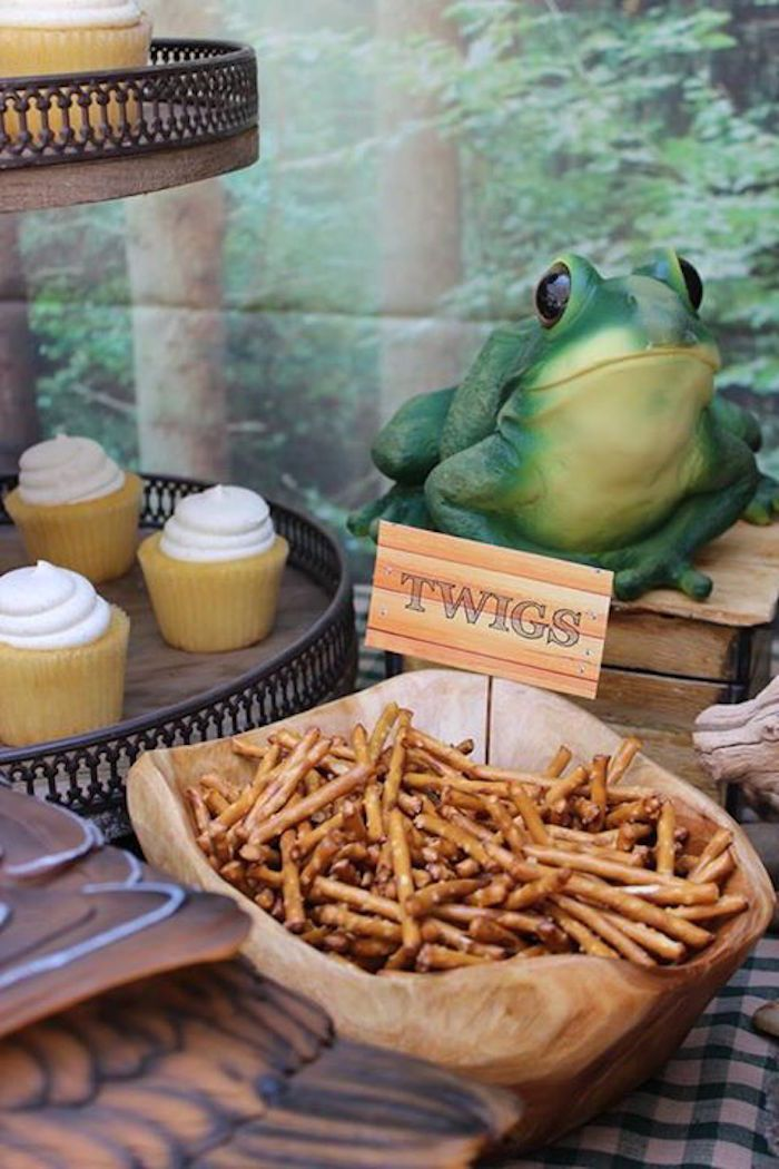 Camping Themed Graduation + Birthday Party via Kara's Party Ideas | KarasPartyIdeas.com (14)