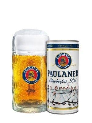 Paulaner Oktoberfest Bier 1L Can & Stein X 2