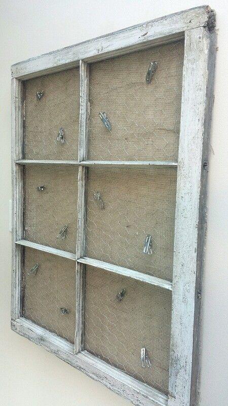 Wood window picture / memo holder