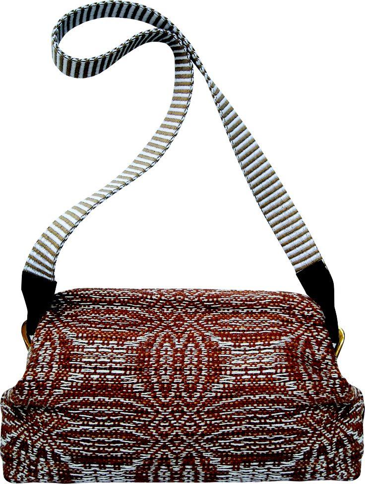 Tetris shoulder bag in handwoven fabric alfiere melange.