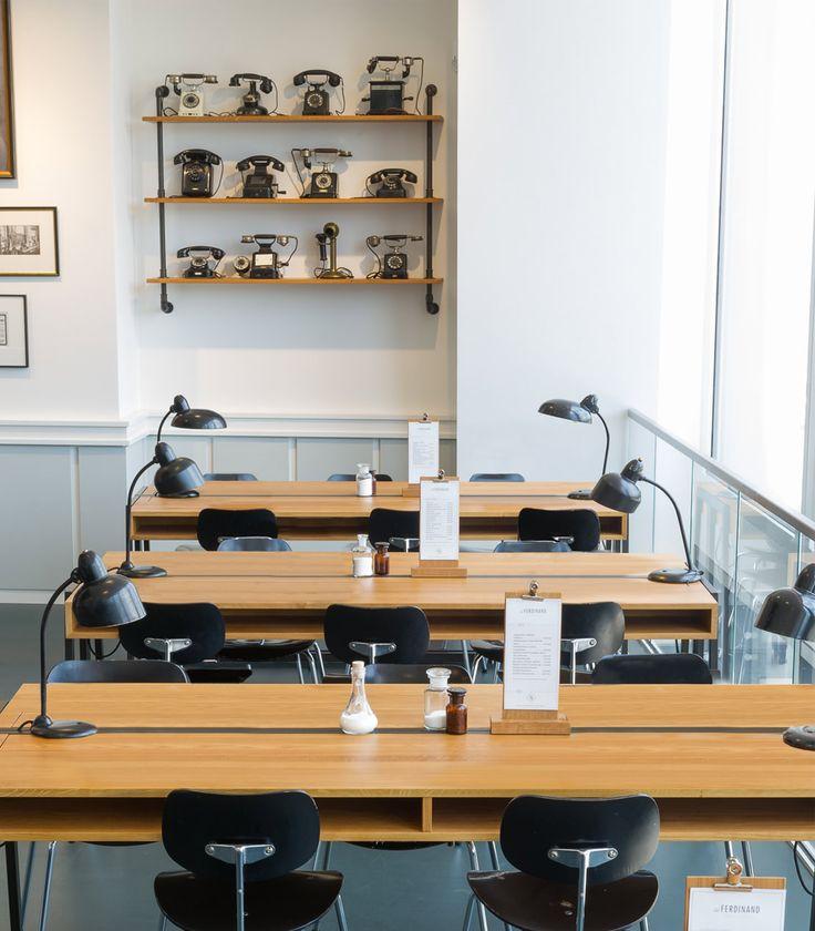 Aerogram Studio gives us a lesson in design with Hamburg's Café Ferdinand... http://www.we-heart.com/2014/11/03/cafe-ferdinand-vodafone-hamburg/