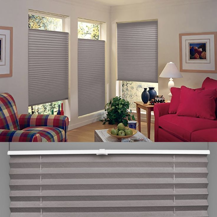 jalousie wohnzimmer:SHINY HOME® Jalousien Plissee mit Gardinenstange Klemmträger Vorhang