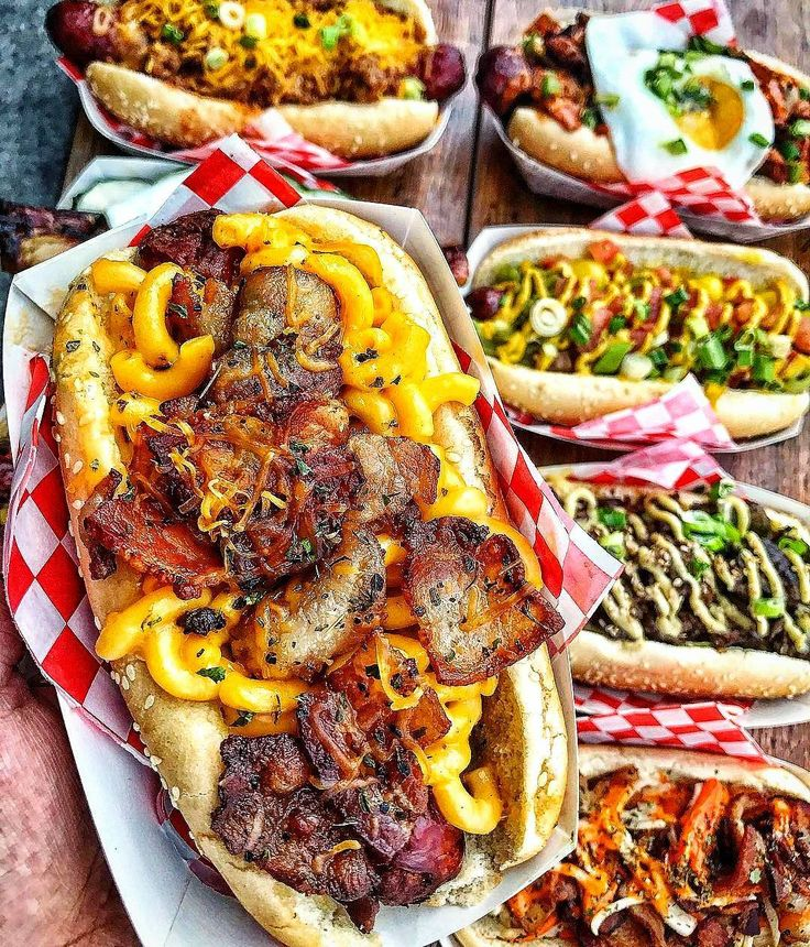 Dear God! Where to start???! Mac N Cheese  Plus Bacon Dog. Korean Fusion Dog. Chicago Dog. Chilli Dog Classic.  Courtesy: Closet Fat Girl @closetfatgirl with @lasvegasfil at @buldogis  #saveanimalseathotdogs #hotdogs #brats #beer #carne #churrasco #instagood #foodstagram #foodpic #foodphotography #lunch #brunch #bbq #barbecue #grill #grilling #grillporn #food #foodie #fooodporn #usa #america #vegas #kcco #luxurylife #chef #getinmybelly #nomnom #firemakeseverythingbetter  Blog…