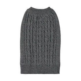 Pet Cable Knit Jumper - Medium, Grey