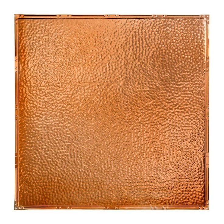 Great Lakes Tin Chicago Copper 2-foot x 2-foot Lay-In Ceiling Tile