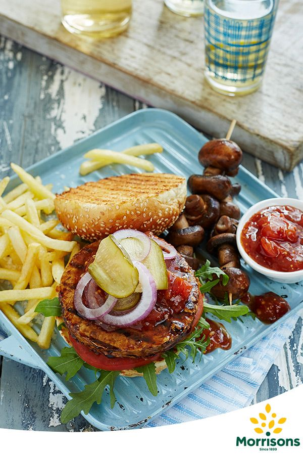 Traditional Burgers with Sweet Tomato Relish