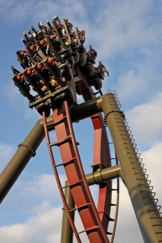 Nemesis Inferno Thorpe Park - front row seats & on in 2mins instead of 90min wait, just for being polite!! Epic day