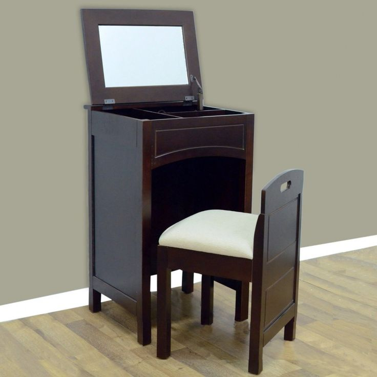 LaMont Cheswick Vanity Set With Mirror   Small Bedroom Vanity So I Can Do  My Makeup In The Bedroom While The Bathroom Is Occupied