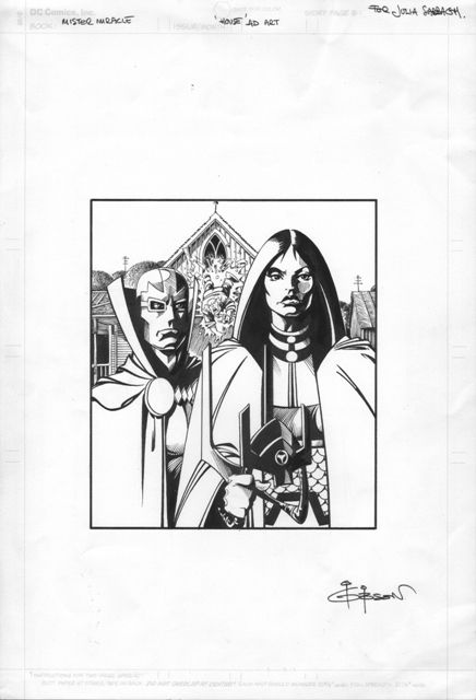 Mister Miracle and Big Barda by Ian Gibson