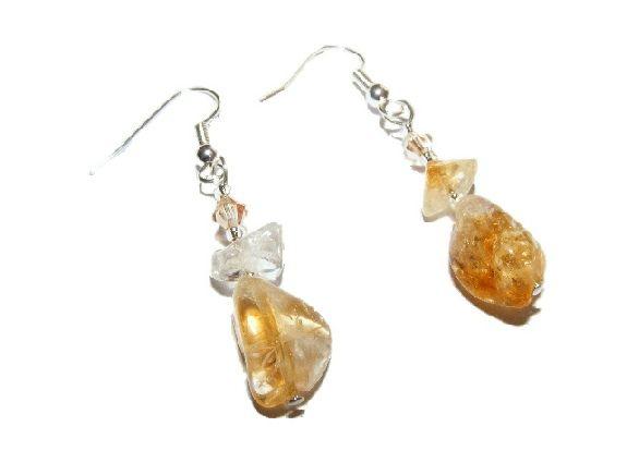 Citrine and Swarovski Crystal Earrings £5.99