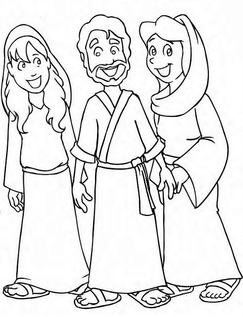 17 best Mary and Martha Coloring