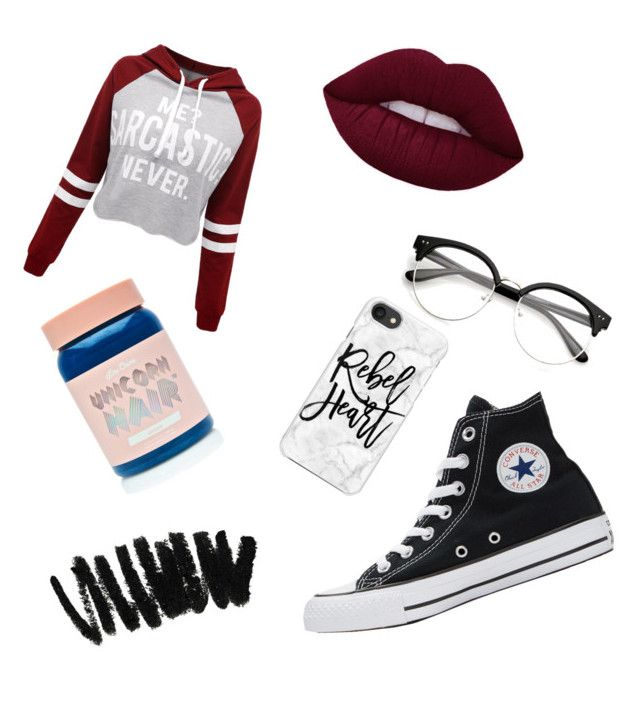 """""""Wax Statue"""" by lil-cuddle ❤ liked on Polyvore featuring WithChic, Casetify, Converse, Lime Crime and Bobbi Brown Cosmetics"""