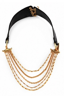 HOUSE OF HARLOW 1960 BY NICOLE RICHIE CHAIN LEATHE