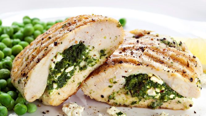Spinach Stuffed Chicken http://www.recipes-fitness.com/spinach-stuffed-chicken/
