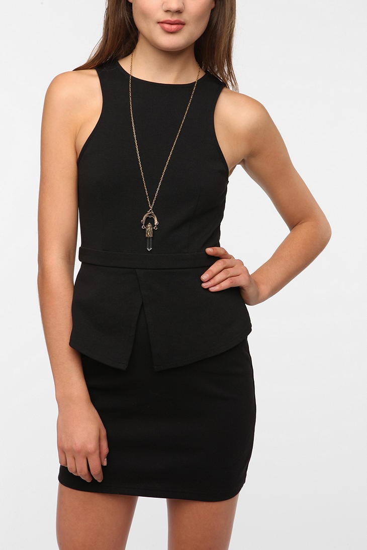 The little black dress of this fall must have the power of peplum! The added ruffle will have your silhouette looking fit and curvaceous in seconds. (@UrbanOutfitters www.urbanoutfitters.com)