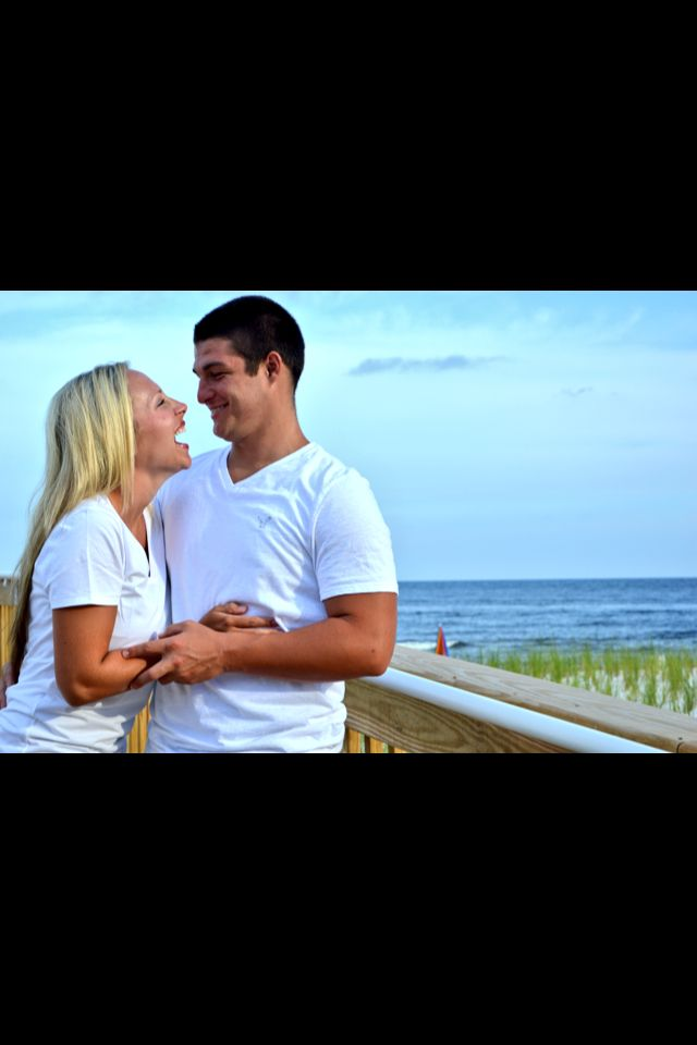 Sweet couple beach picture