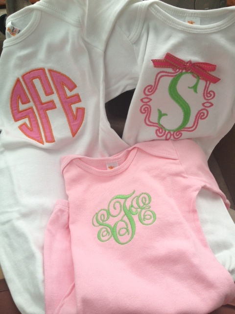 monogram clothes for babies
