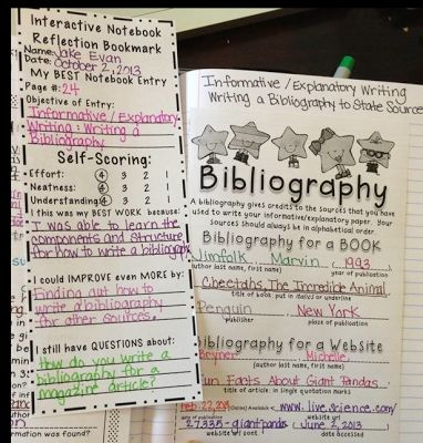 Students fill out self-reflection bookmarks for their Interactive Notebooks. Great for parent conferences!!!!!
