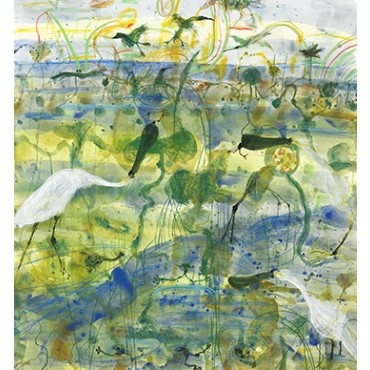 Spoonbill and Frogs by John Olsen